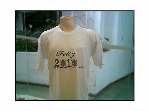 Camiseta Adulto Bordada Cód.R102/1