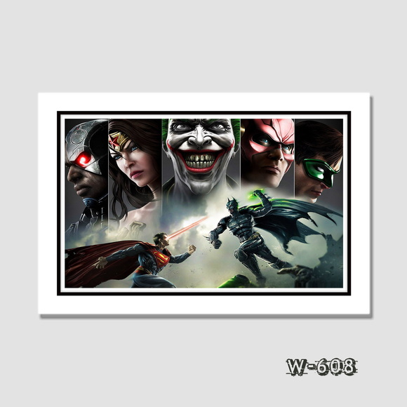 Quadro Dc - Batman Vs Superman 60x40cm N7 Decoracao Quarto