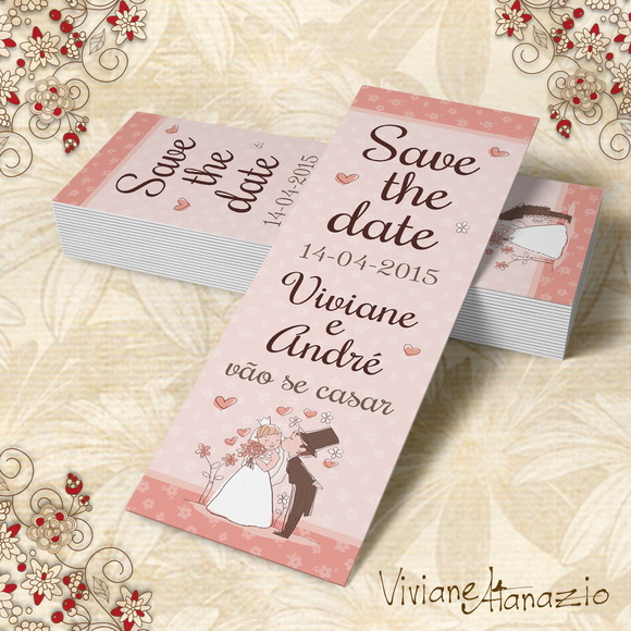 Marcador De Livro Save The Date - 00015