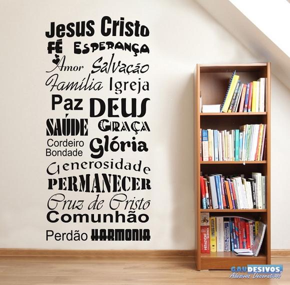 Aparador Acrilico Onde Comprar ~ Adesivo Decorativo Frases Jesus Cristo no Elo7 GAUDESIVOS (5AFE9D)