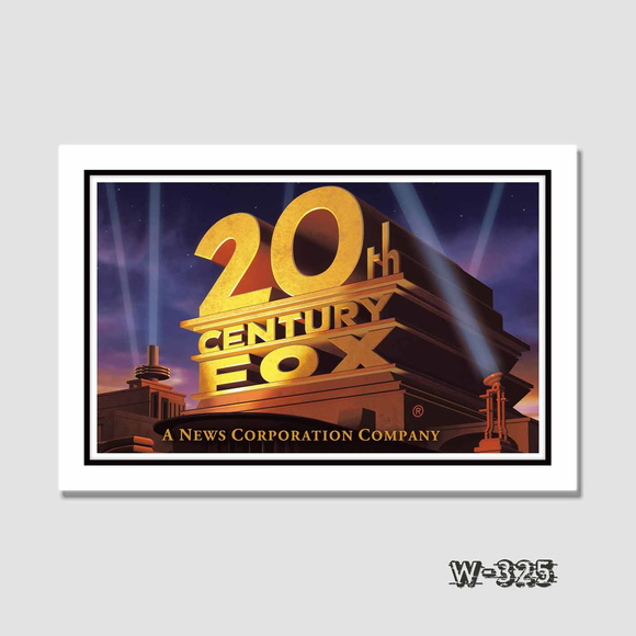 Quadro Cinema 20th Century Fox 60x40cm N7 Decoracao Sala