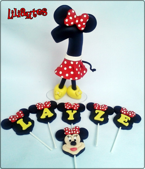 Vela Minnie 12cm By Liliartes