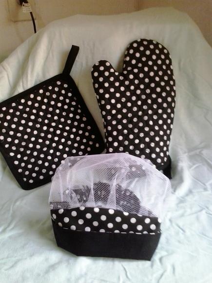 kit de cozinha em tecido