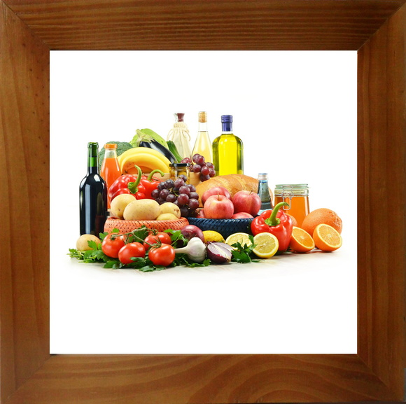quadro decor cozinha legumes e frutas arte brasil. Black Bedroom Furniture Sets. Home Design Ideas
