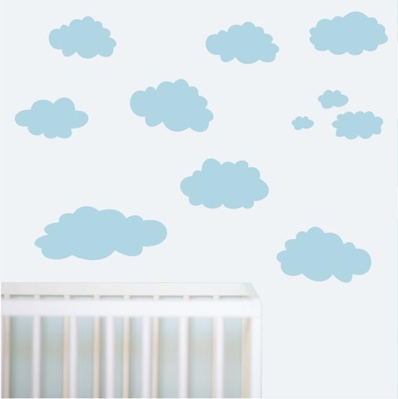 Aparador Barba E Corpo ~ adesivo parede infantil nuvem nuvens m01 QuartinhoDecorado Elo7
