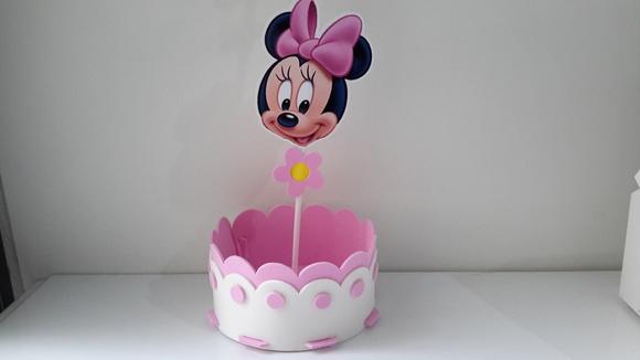 Enfeite De Balão ~ Enfeite de mesa minnie baby c pega bal u00e3o no Elo7 M&M Lembrancinhas (604C29)