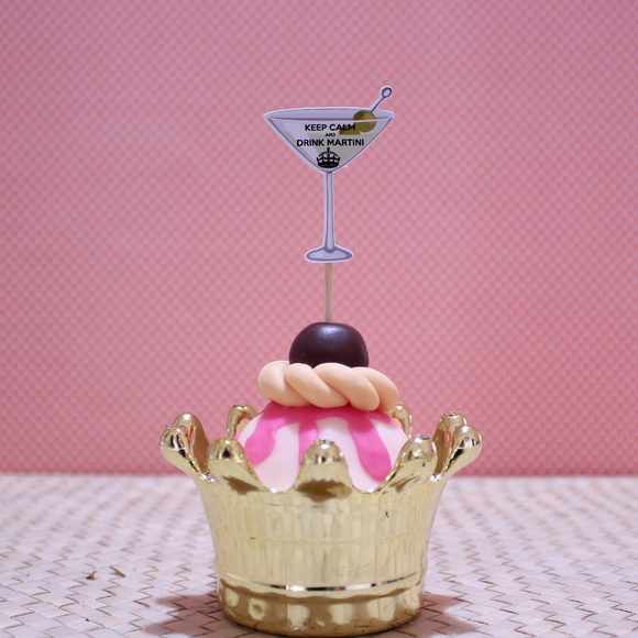 Toppers para doces - Keep calm - martini