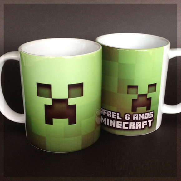 Caneca Minecraft Creeper