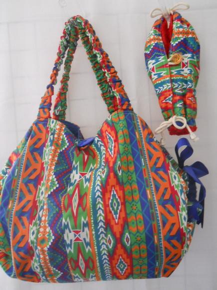 Bolsa toalha para praia e piscina atelie artesanal elo7 for Bolsa piscina