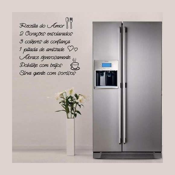 Aparador Espelhado Bronze ~ Adesivo Parede Cozinha Receita Do Amor Adesivos Sempre