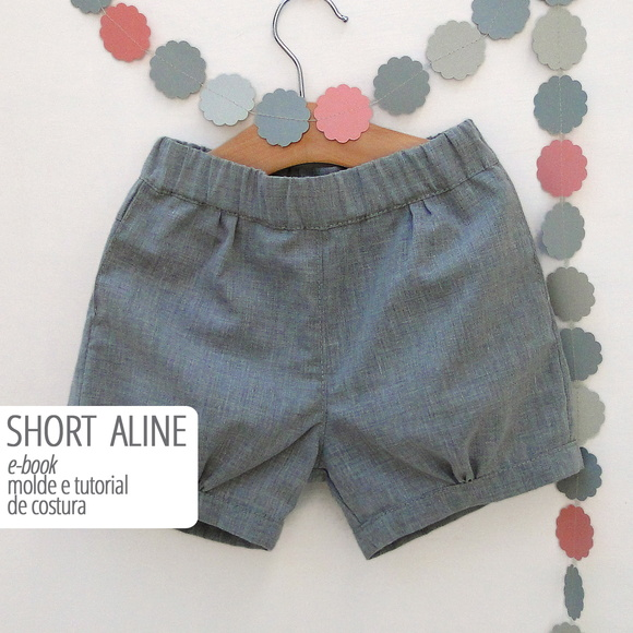 SHORT ALINE - moldes e tutorial