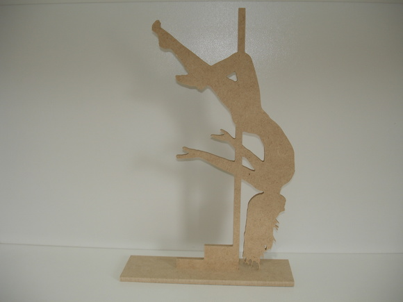 Pole Dance 1 - MDF 6mm - 31 x 16 cm