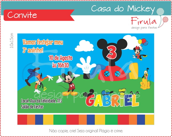 Convite Digital Casa do Mickey