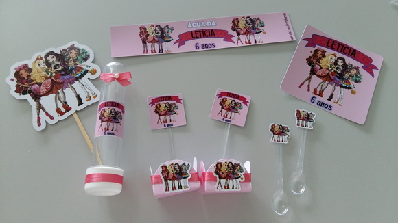 KIT FESTA PERSONALIZADA EVER AFTER HIGH
