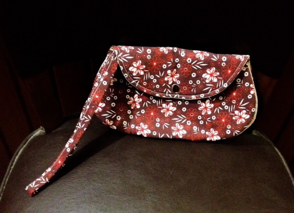 Mini Clutch Bella floral Vermelha