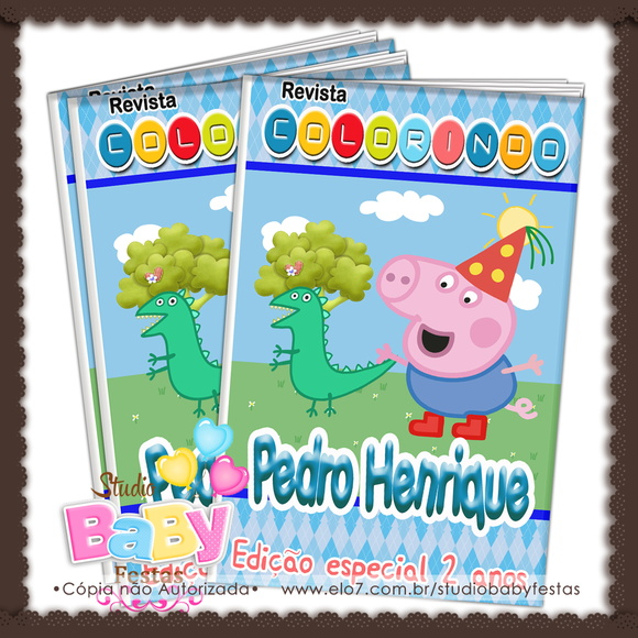 Revista de colorir George Pig ARTE