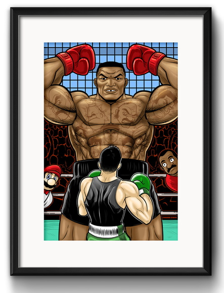 Quadro Mike Tyson Punch Out com Paspatur