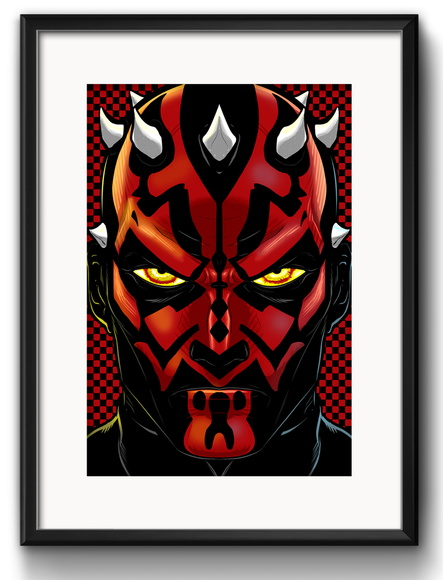 Quadro Darth Maul Pop Art Paspatur