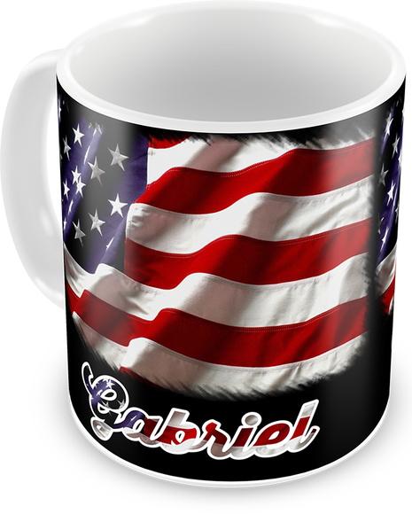 Artesanato Da Região Sul Rendas ~ Caneca Bandeira Estados Unidos Elo7