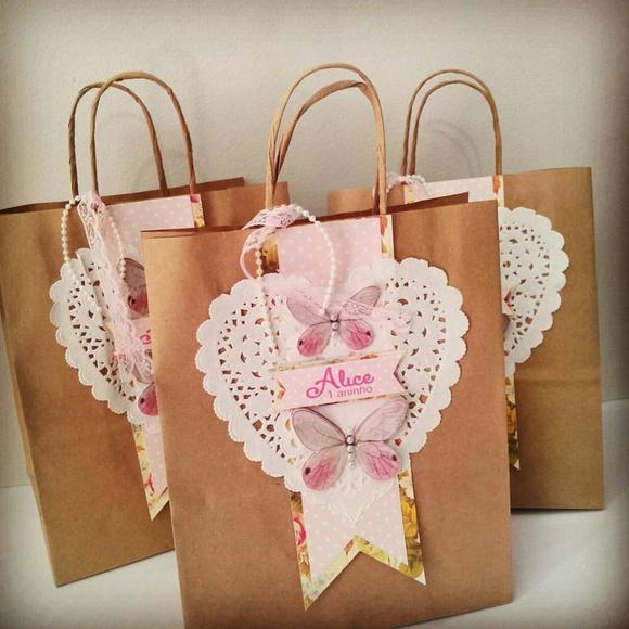 Bolsa De Papel Personalizada Casamento : Sacolas personalizadas tema jardim glamour