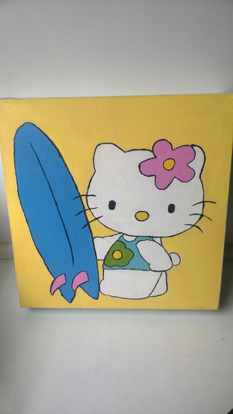Hello Kitty - Quadro Decorativo