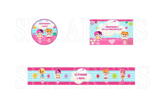 Arte Kit Digital - Lalaloopsy