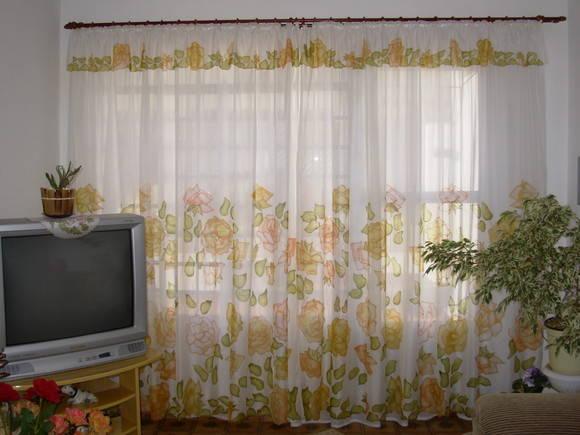 Cortina sala quarto rosas tons laranjas atelier olga - Buscar cortinas para salas ...