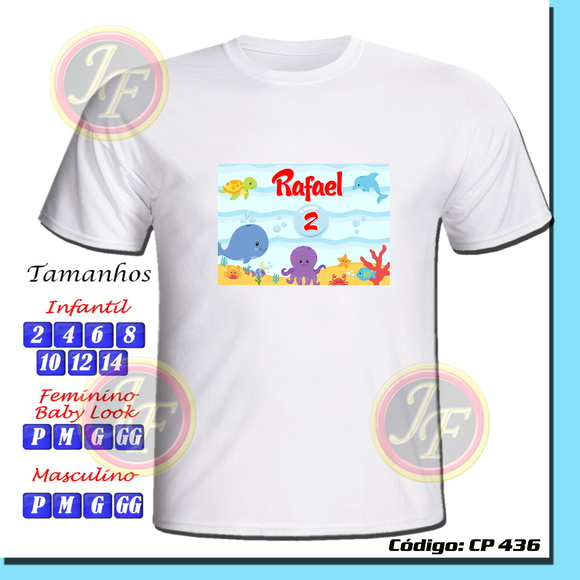 Camiseta Fundo do Mar Personalizada