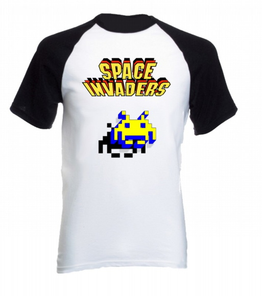 Camiseta Raglan Space Invaders 04