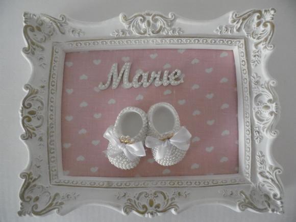 Quadro porta maternidade sapato p rola no elo7 gloria for Porta quadro da appoggio