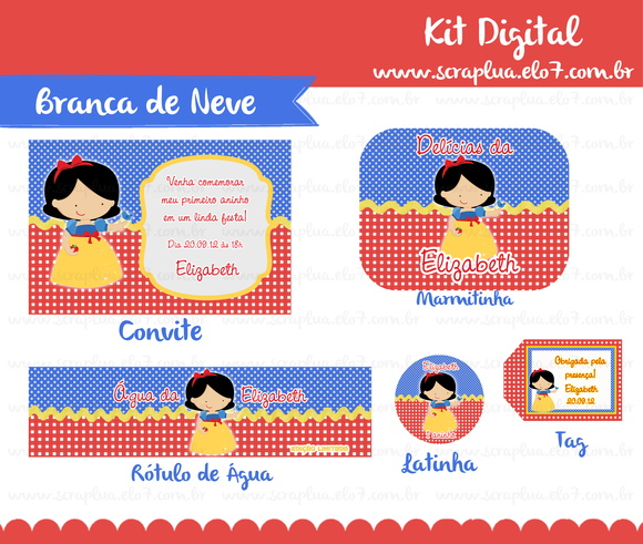 Kit Digital Branca de Neve