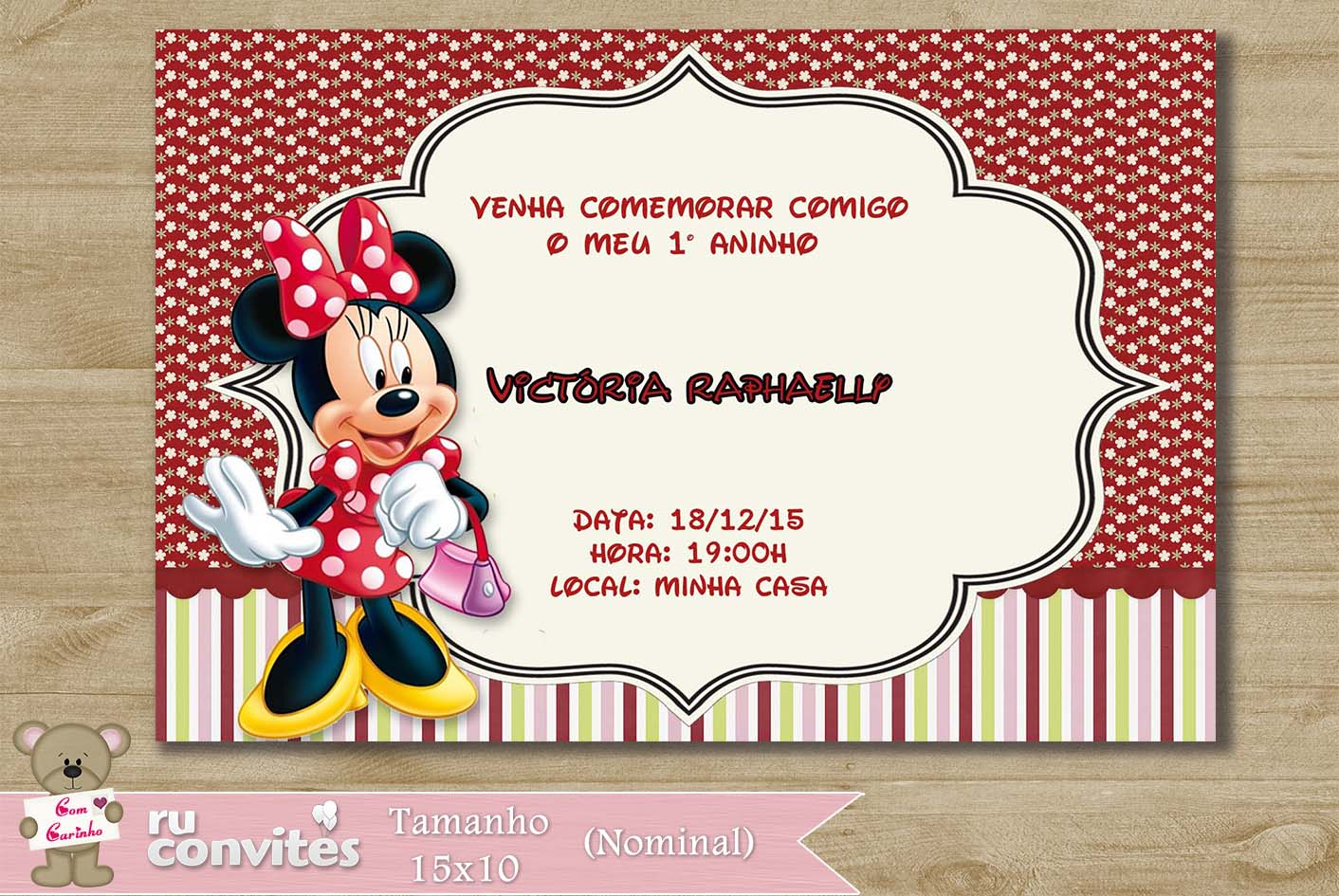 Convite Minnie 201 No Elo7 Ruconvites 52d919