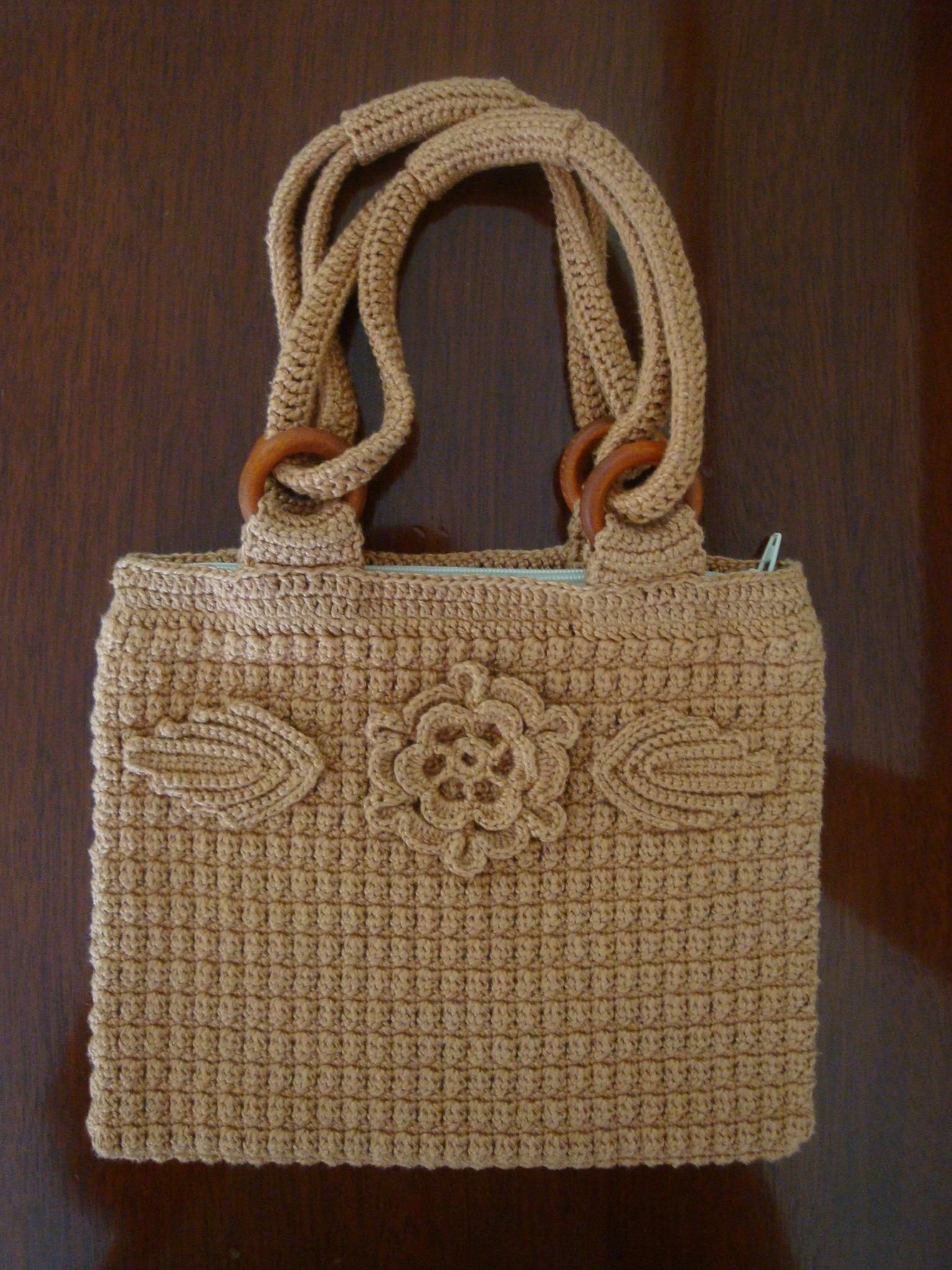 Bolsa De Mão Feita De Croche : Bolsa de m?o em croch? artesane artesanato elo