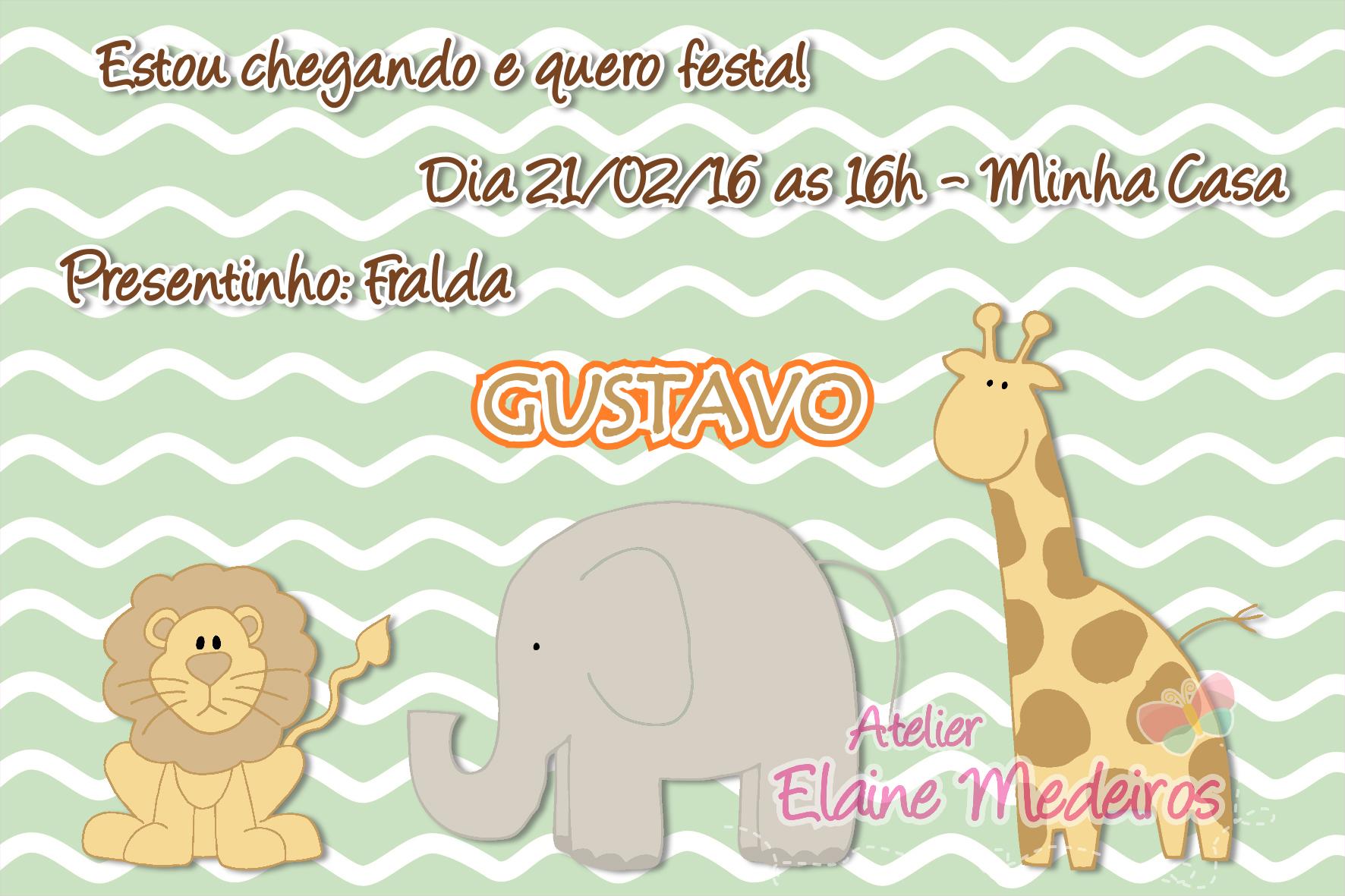 Convite Virtual Cha De Bebe Safari Em Sp Elo7