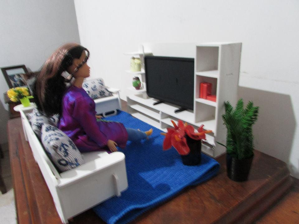M veis barbie em mdf cecilia gillio artesanato elo7 for Sala de estar barbie