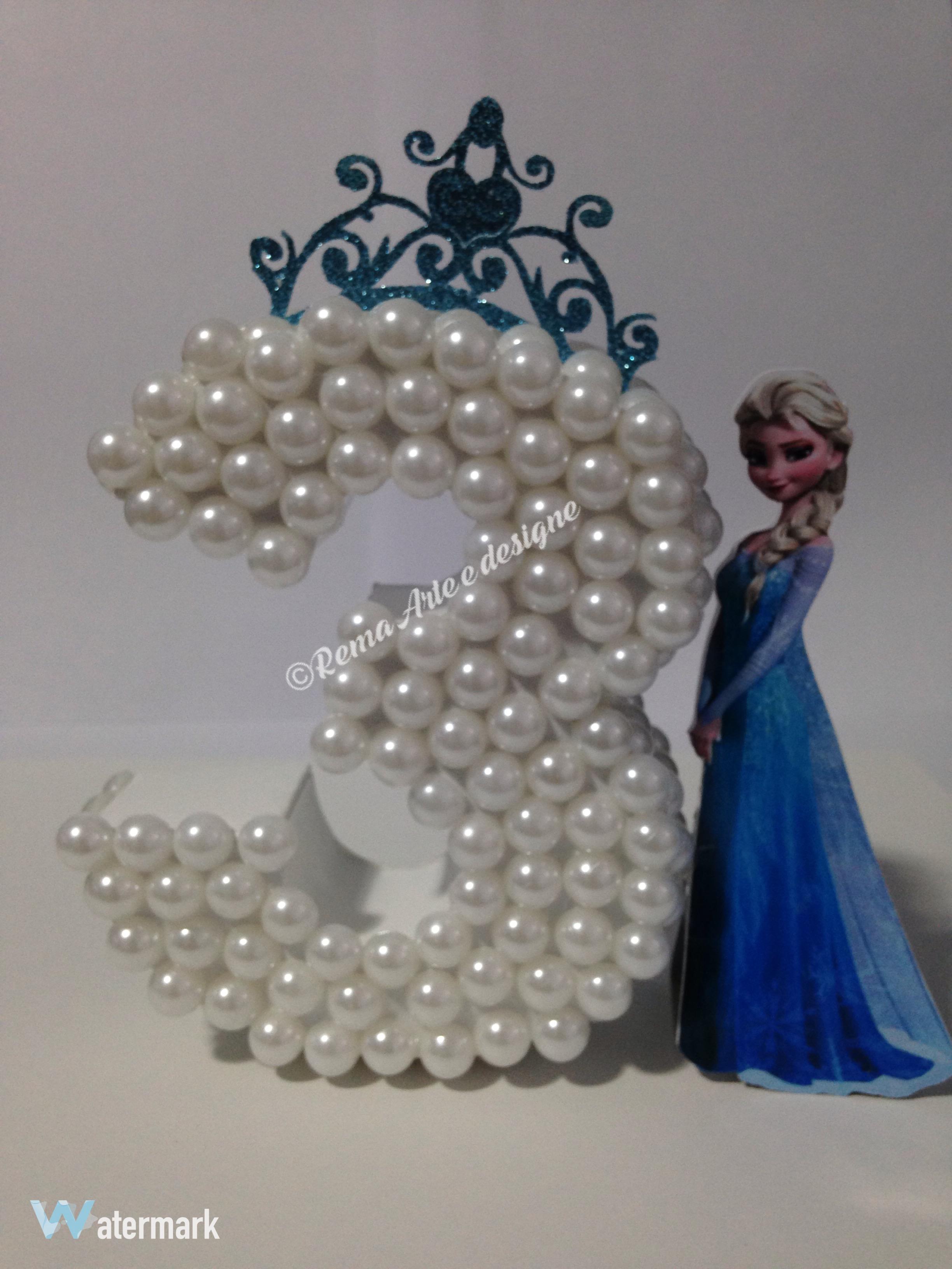 N 250 Mero Letra 3d Decorado Frozen Rema Arte Design Elo7