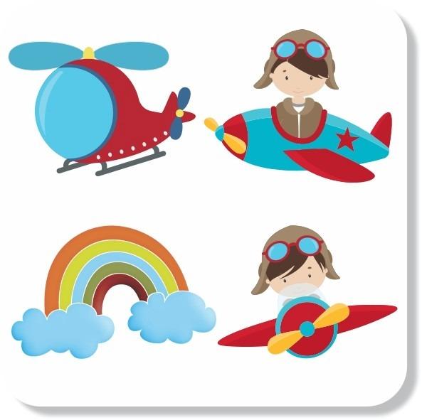 Adesivo Parede Infantil Urso Aviador No Elo7 Mundo Do Adesivo
