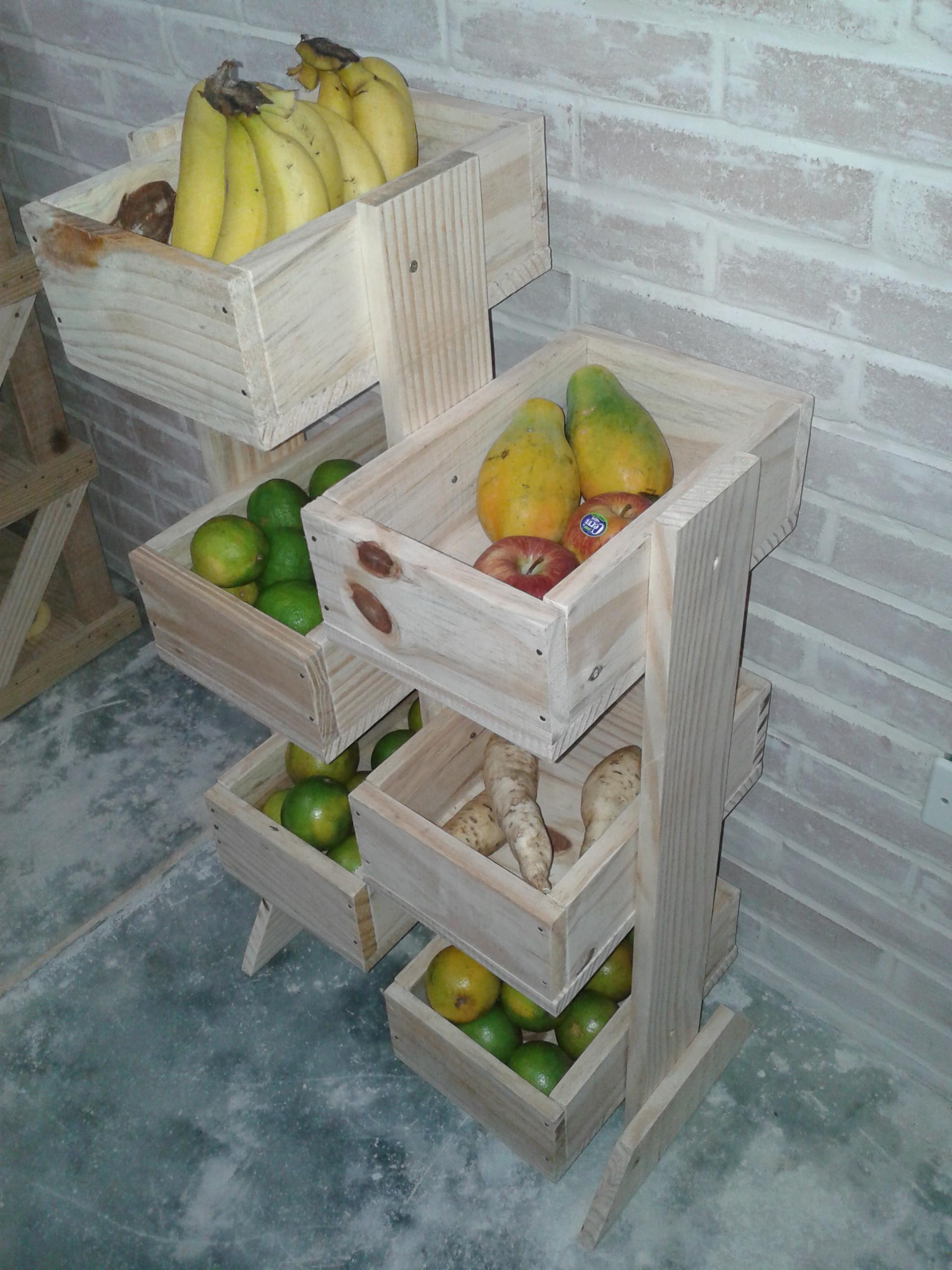 Conhecido Fruteira de madeira 6 prateleiras no Elo7   Elos Decora (66146F) RI13