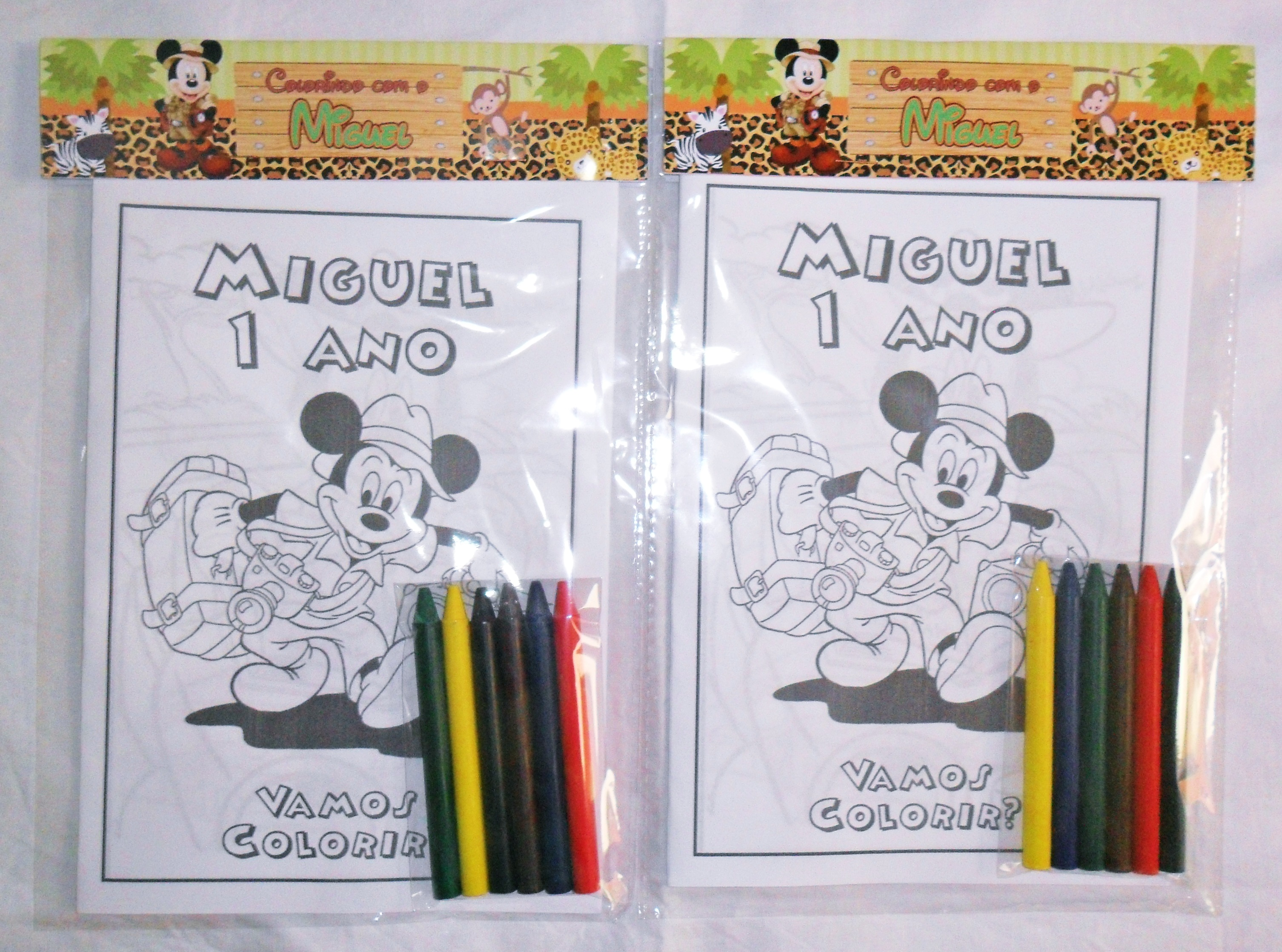 Kit Colorir Mickey Safari No Elo7 Atelie Encantos Do Recanto