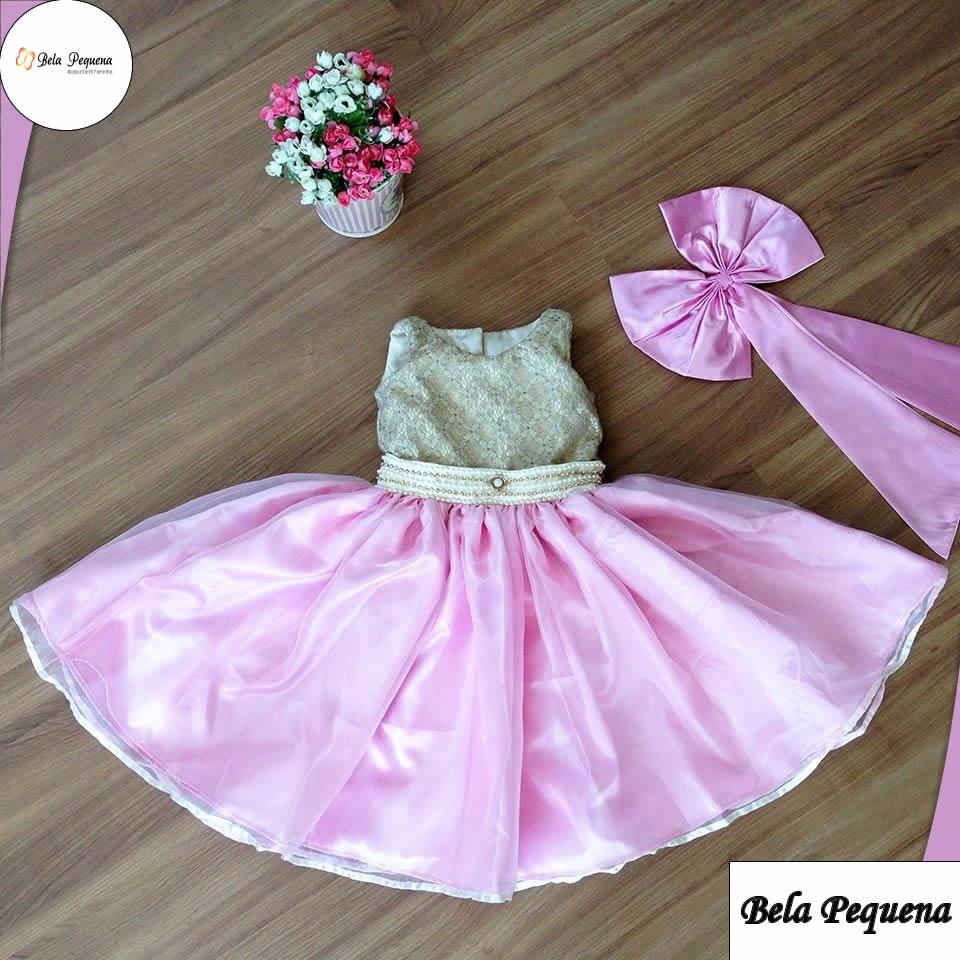 Vestido para festa infantil princesa
