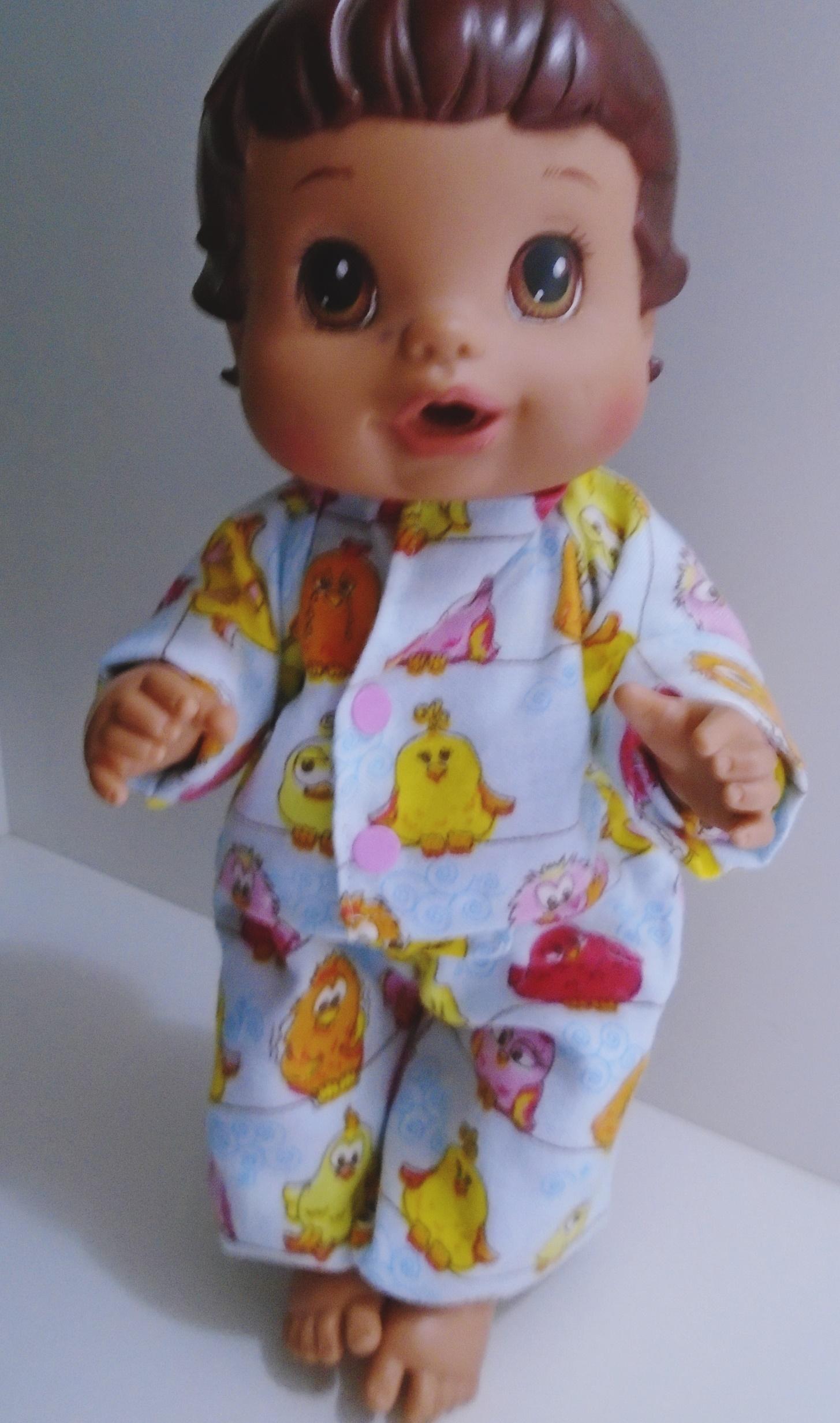 ec623710b Pijama para boneca Baby Alive no Elo7