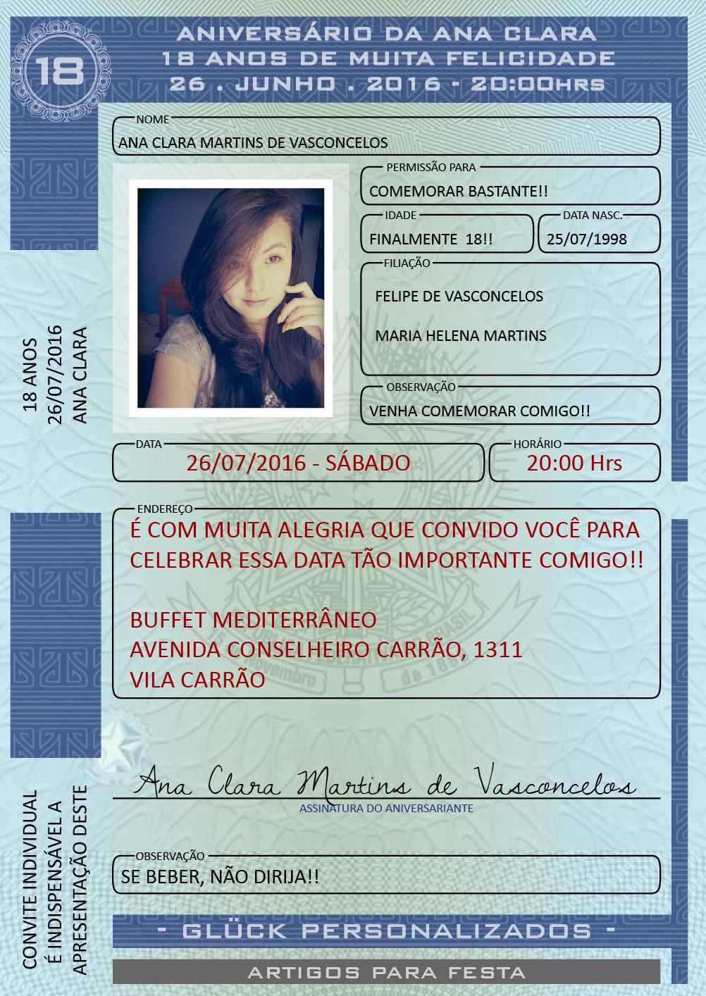84bb615a8 Convite CNH - DIGITAL no Elo7