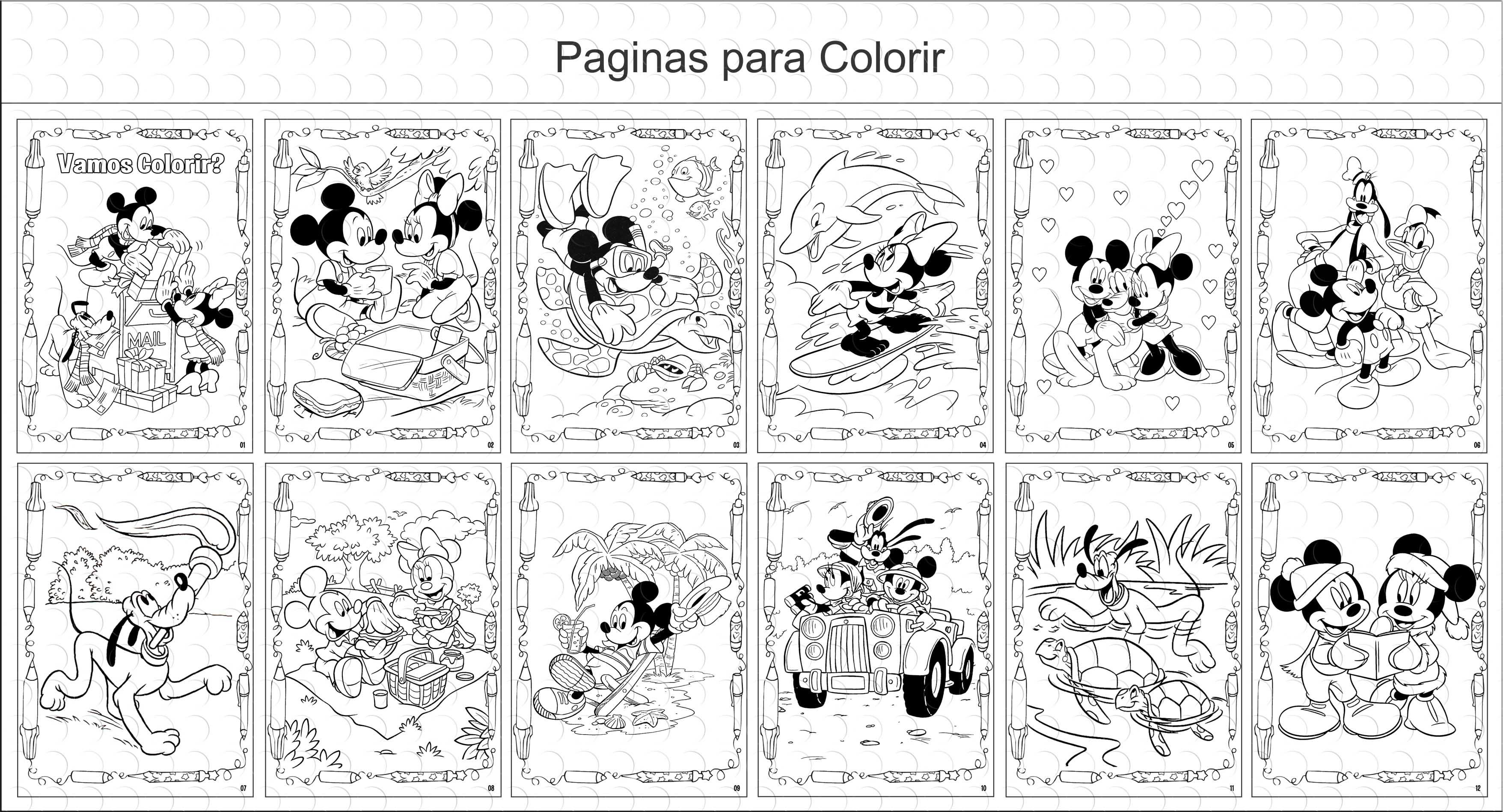 Livros Para Colorir Mickey E Minnie No Elo7 G A Personalize