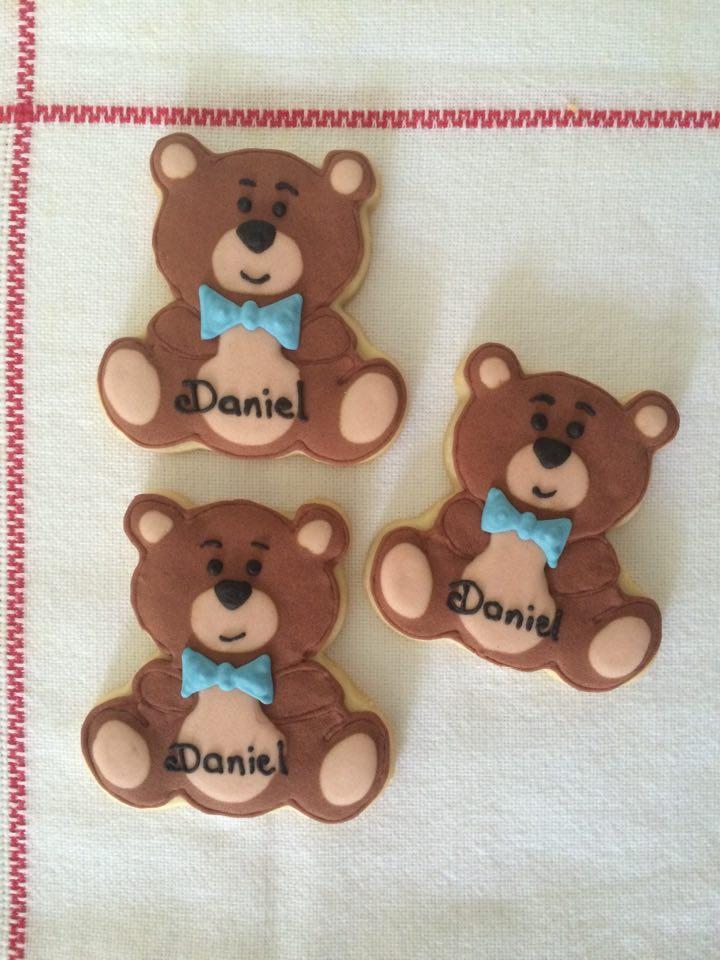 Urso biscoito decorado