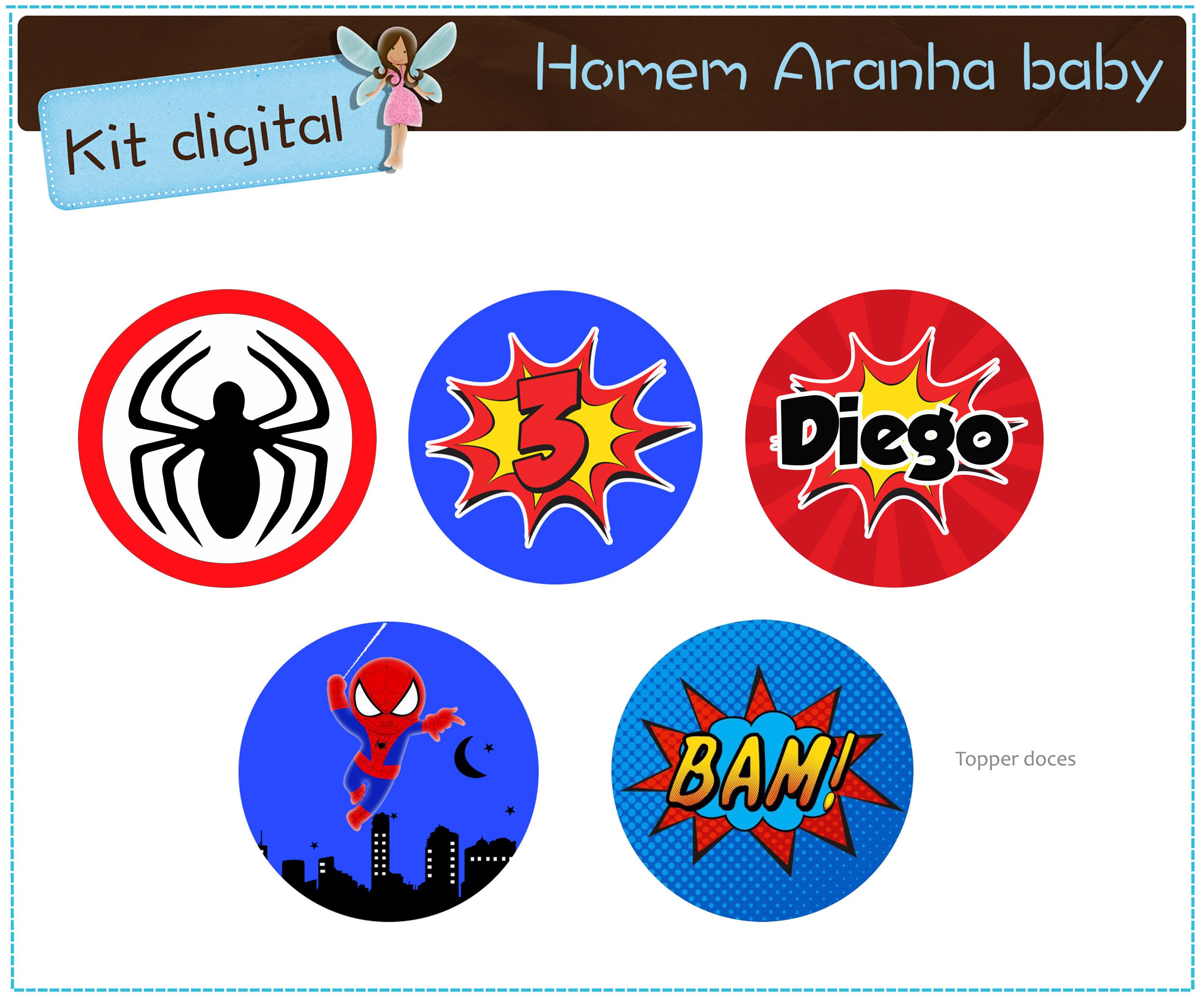 Kit Digital Homem Aranha Para Imprimir No Elo7 Atelier Doces
