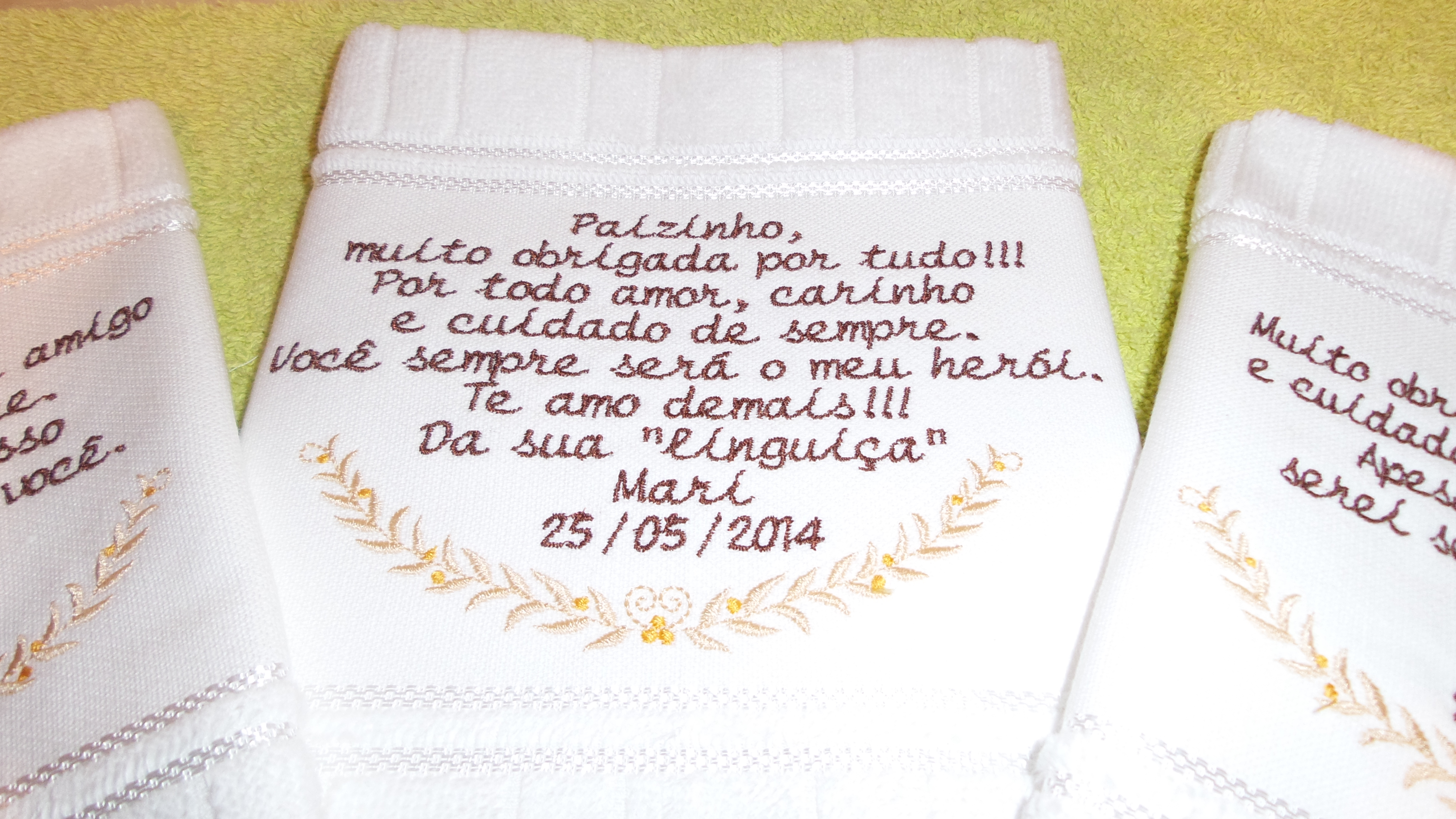 Toalha Com Mensagem Personalizada¹ Para Casamento No Elo7 Cintia