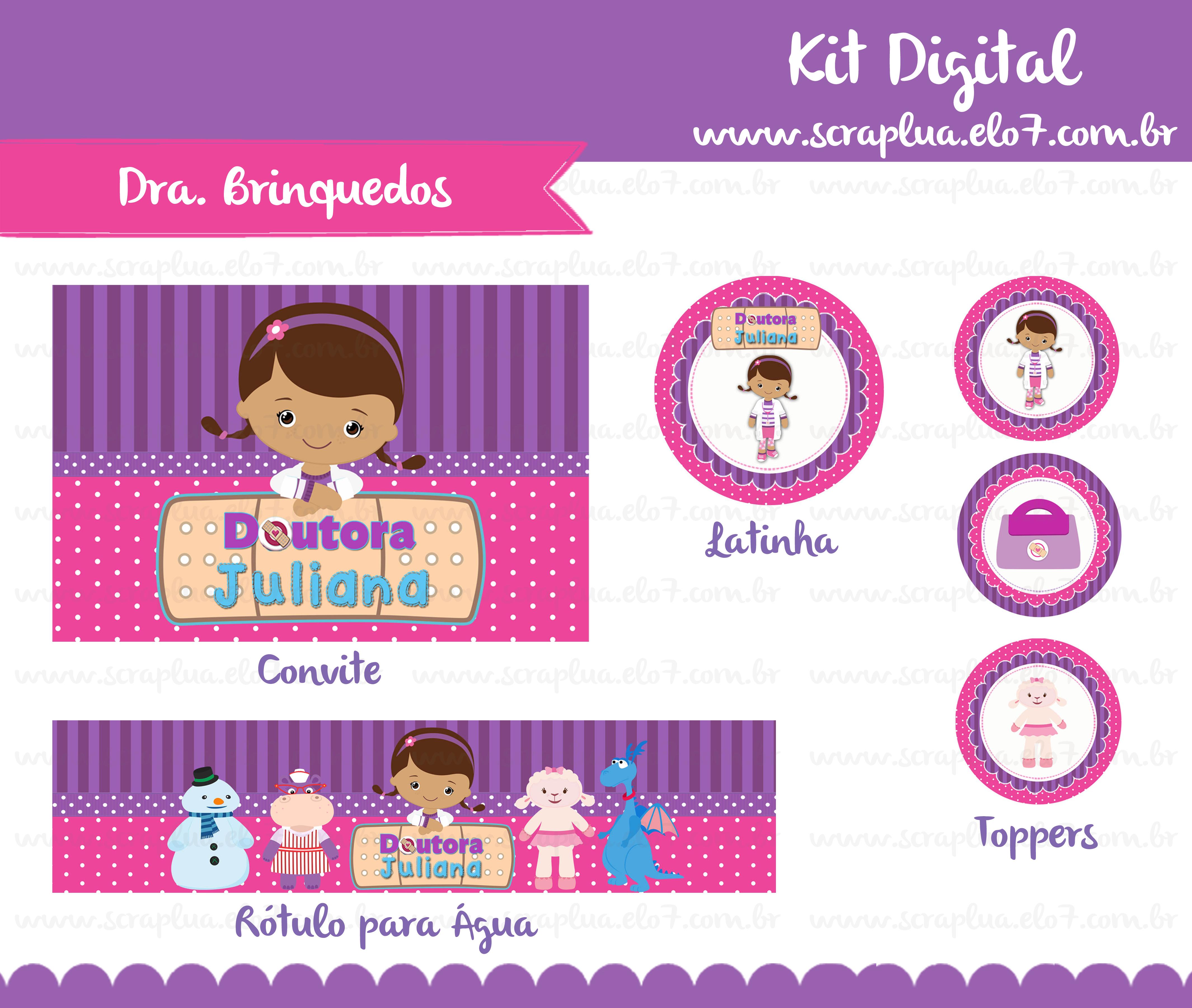 Kit Digital Dra Brinquedos No Elo7 Scrap Lua 45dff8