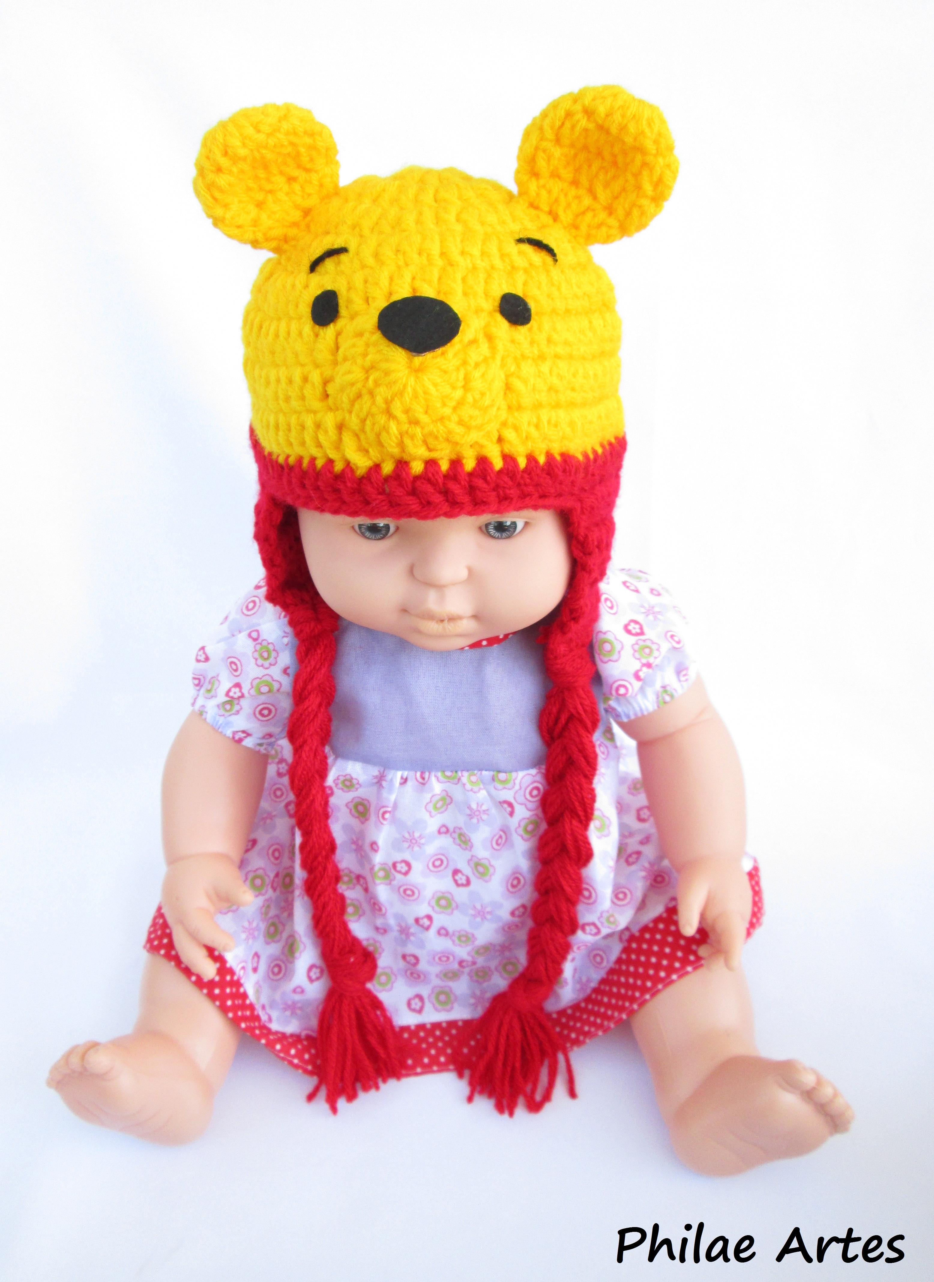 Touca para Crianca Orelha de Ursinho  94fdcdc8d46
