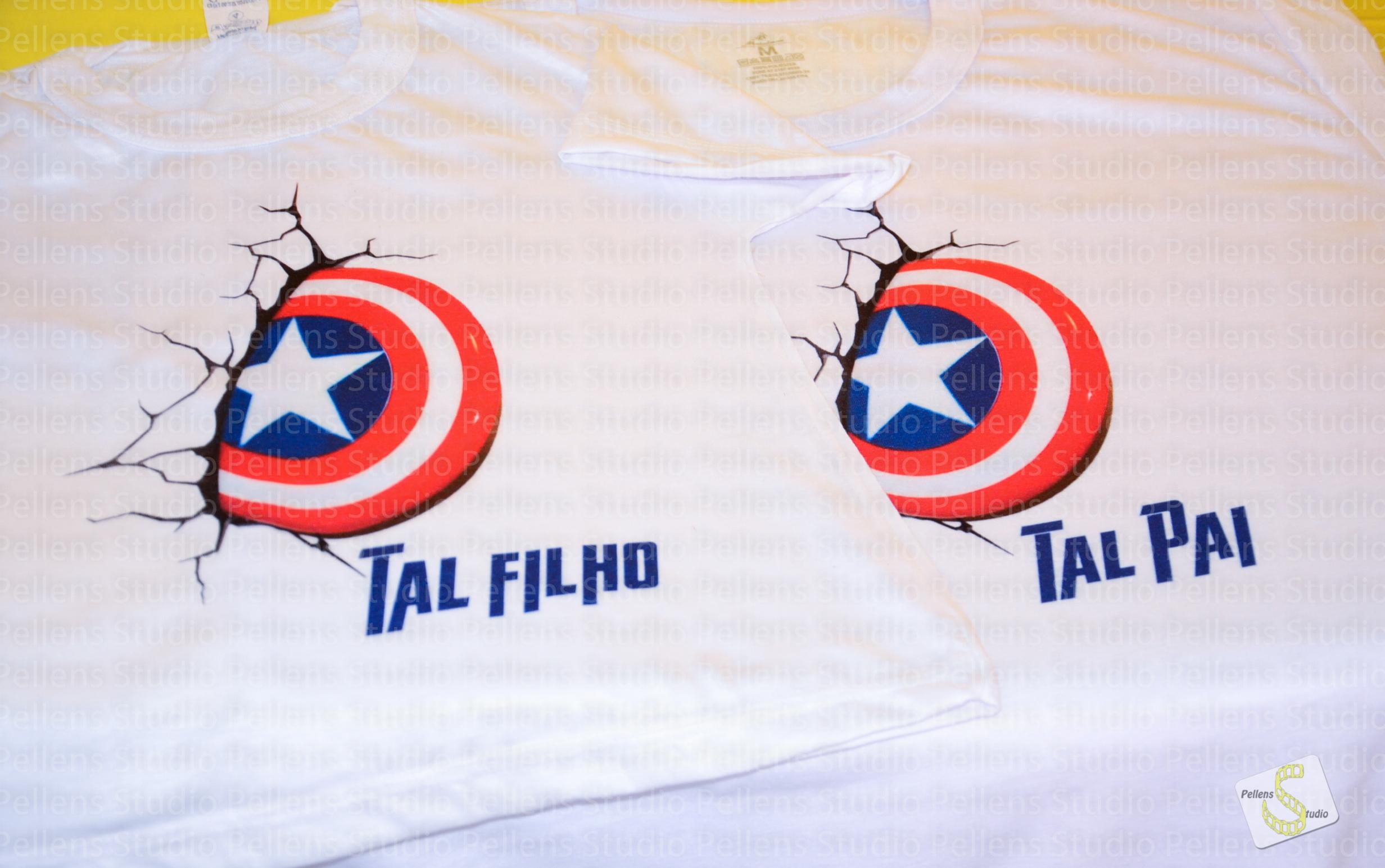 54289dcce4b4ff Camiseta Tal Pai Tal Filho Capitão Améri