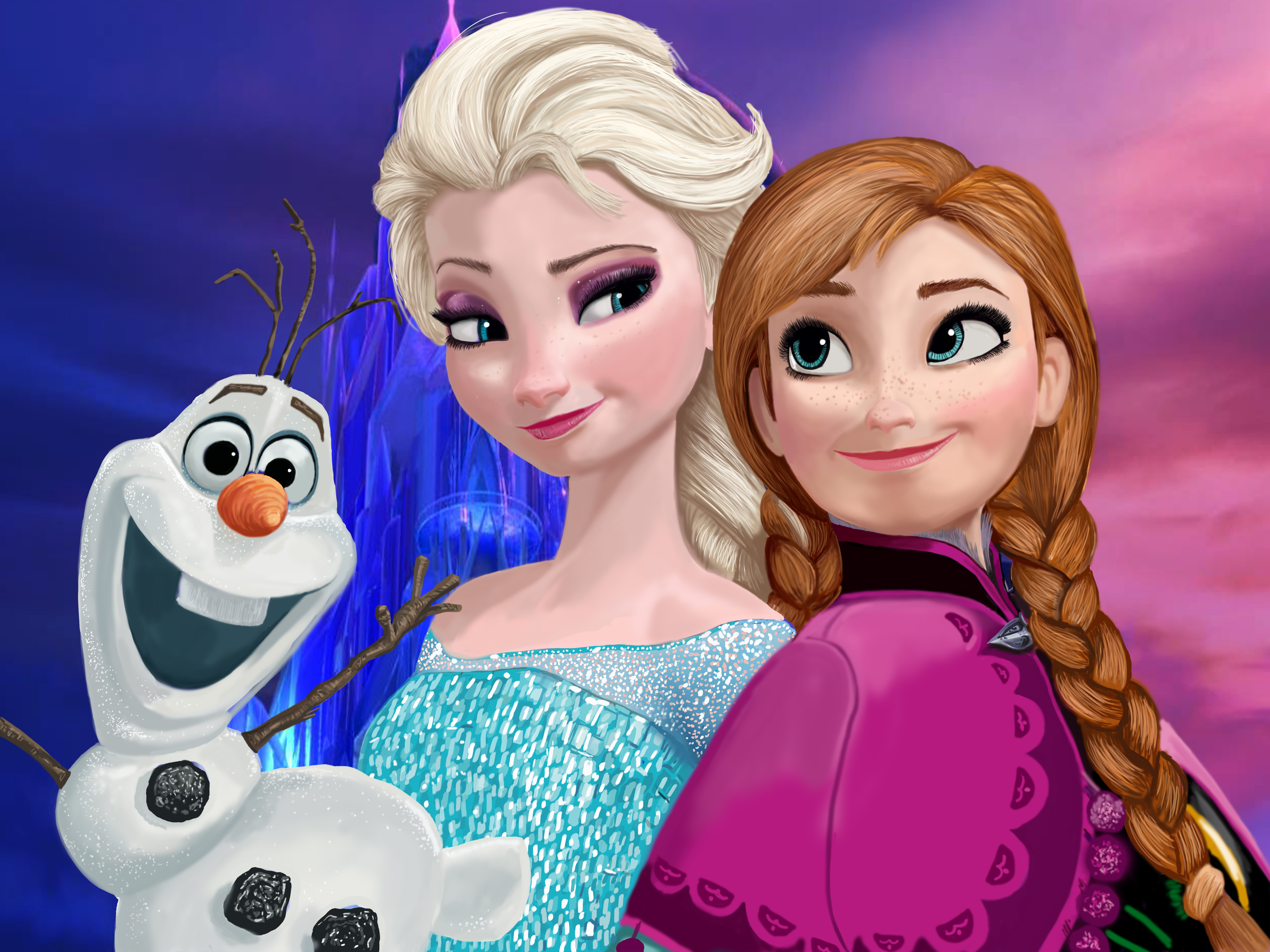 painel infantil frozen elsa ana olaf 2x1 festa oferta elo7. Black Bedroom Furniture Sets. Home Design Ideas
